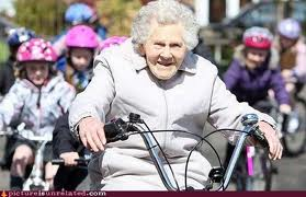 old woman onn bike 1